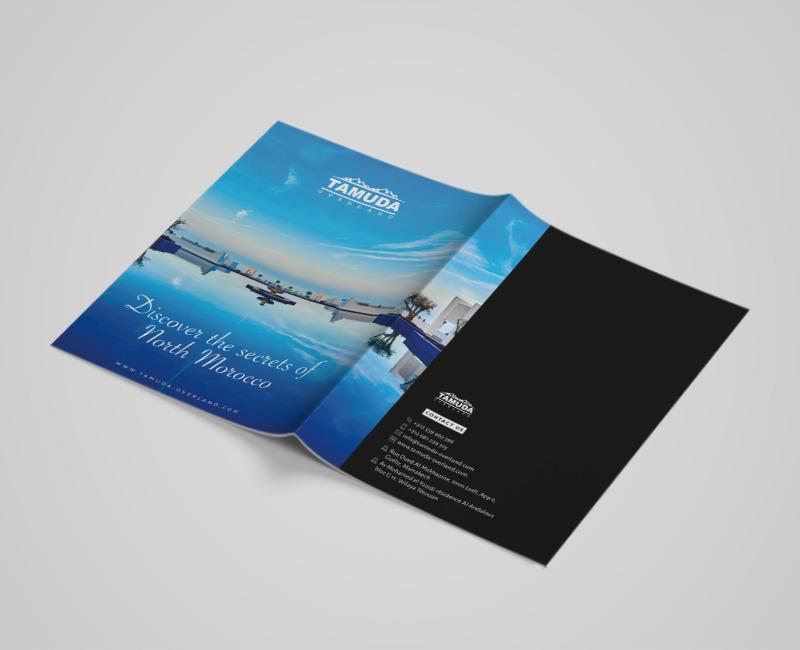 unique design brochure catalogue agence voyage graphique agence de communication tanger tétouan