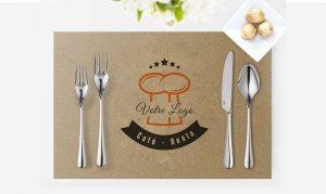 couverts de table tanger tetouan unique design menu restaurant café Hôtel et Restaurant